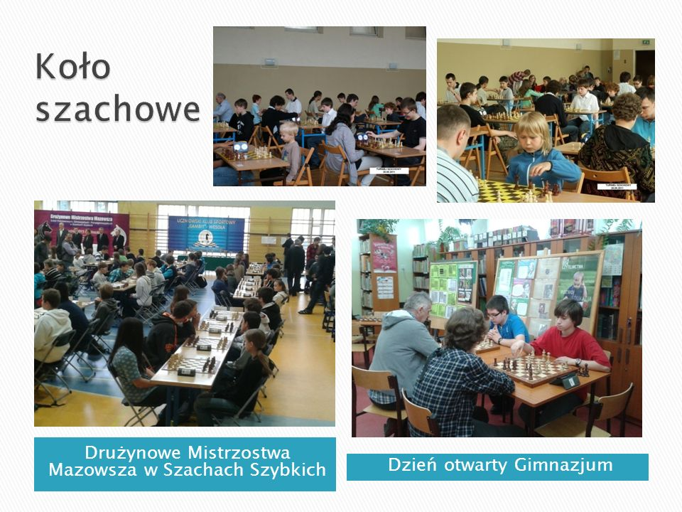 Koło szachowe Drużynowe Mistrzostwa Mazowsza w Szachach Szybkich