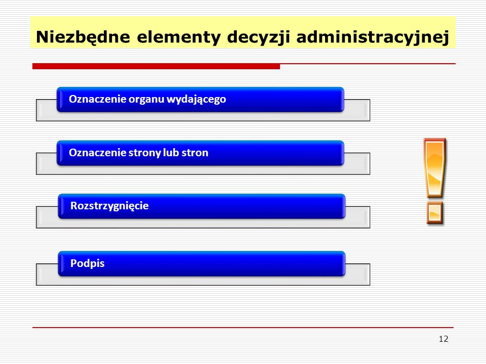 Niezbędne elementy decyzji administracyjnej