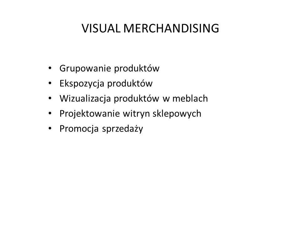 VISUAL MERCHANDISING Grupowanie produktów Ekspozycja produktów