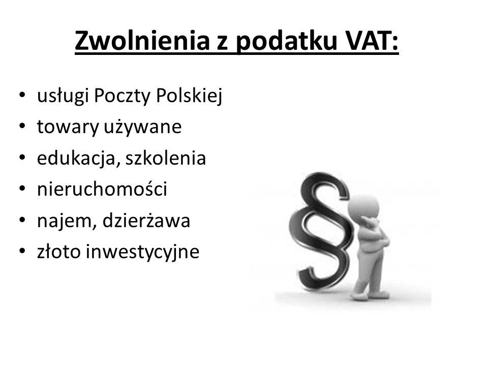 Zwolnienia z podatku VAT: