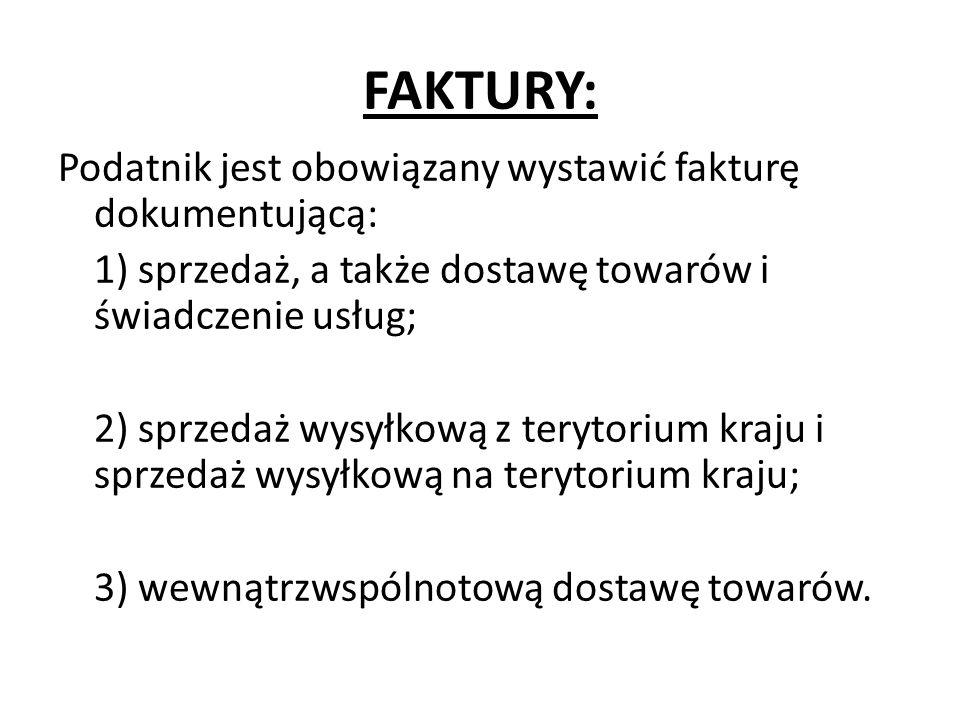 FAKTURY: