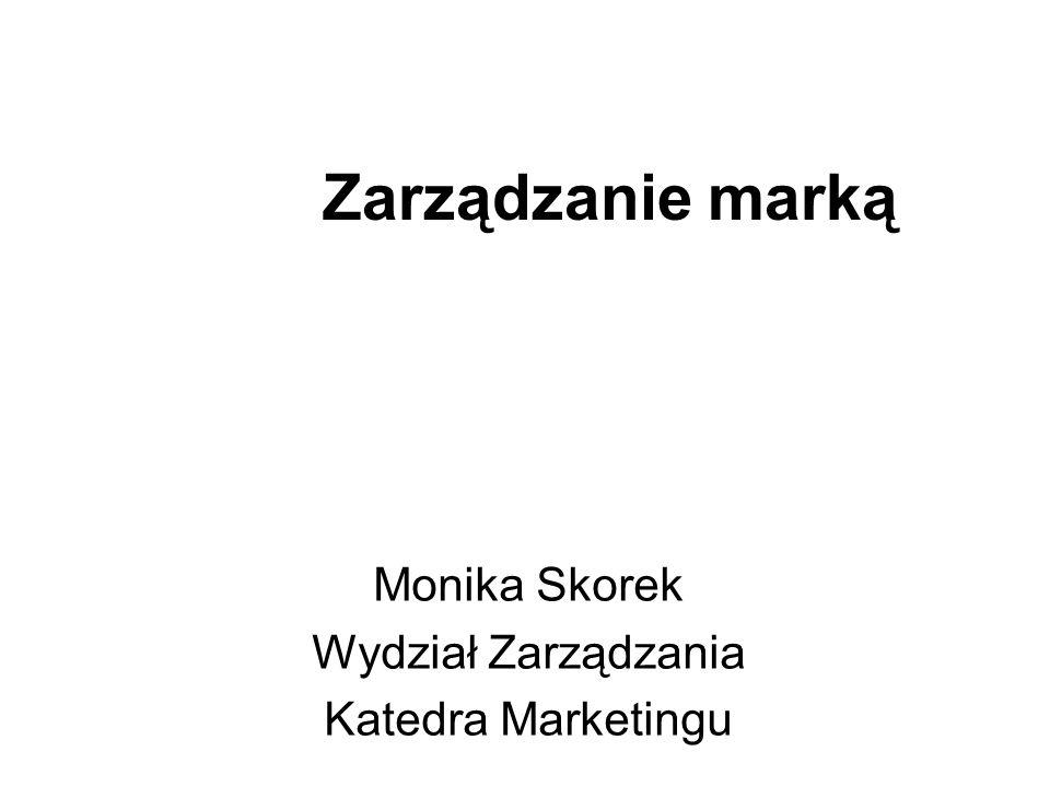 Monika Skorek Wydział Zarządzania Katedra Marketingu