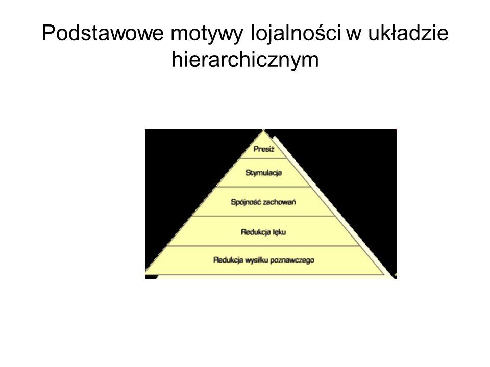 Podstawowe motywy lojalności w układzie hierarchicznym