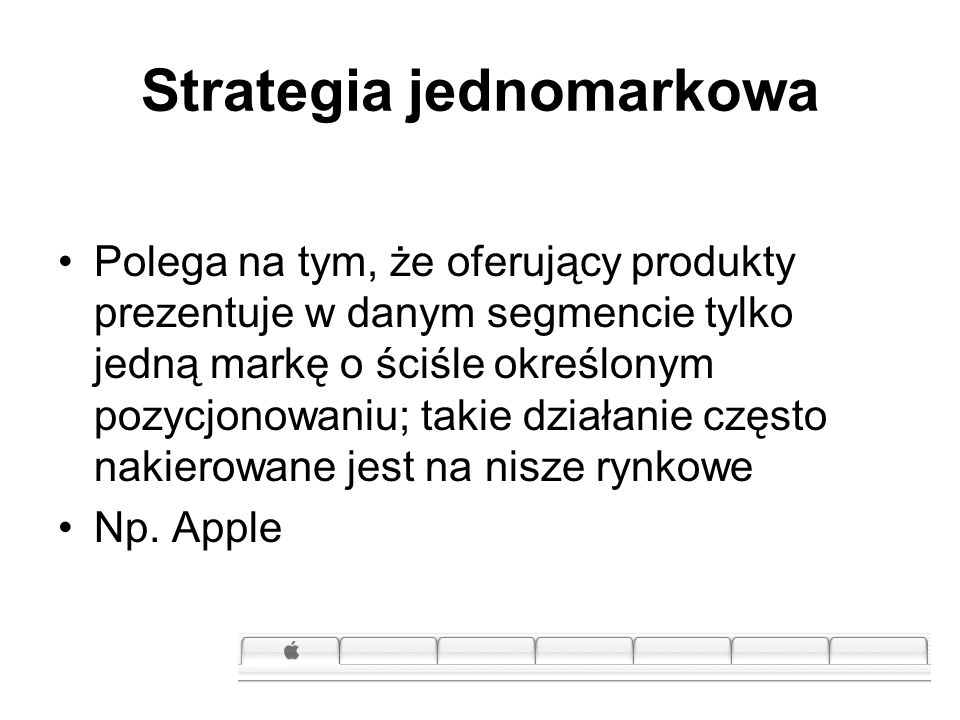 Strategia jednomarkowa