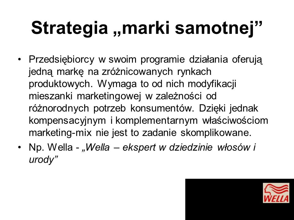 "Strategia ""marki samotnej"