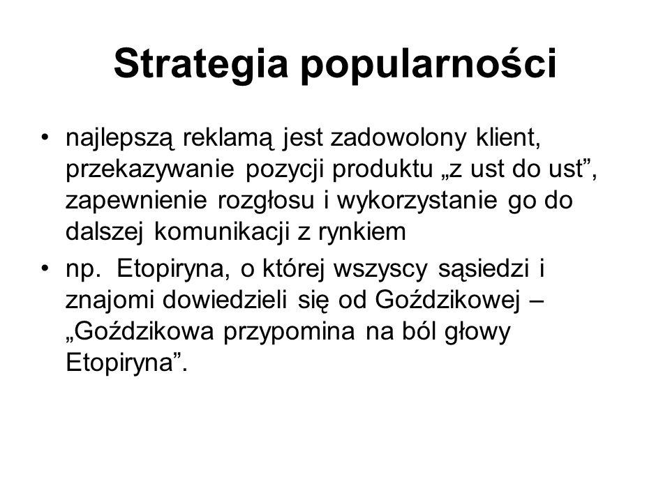 Strategia popularności