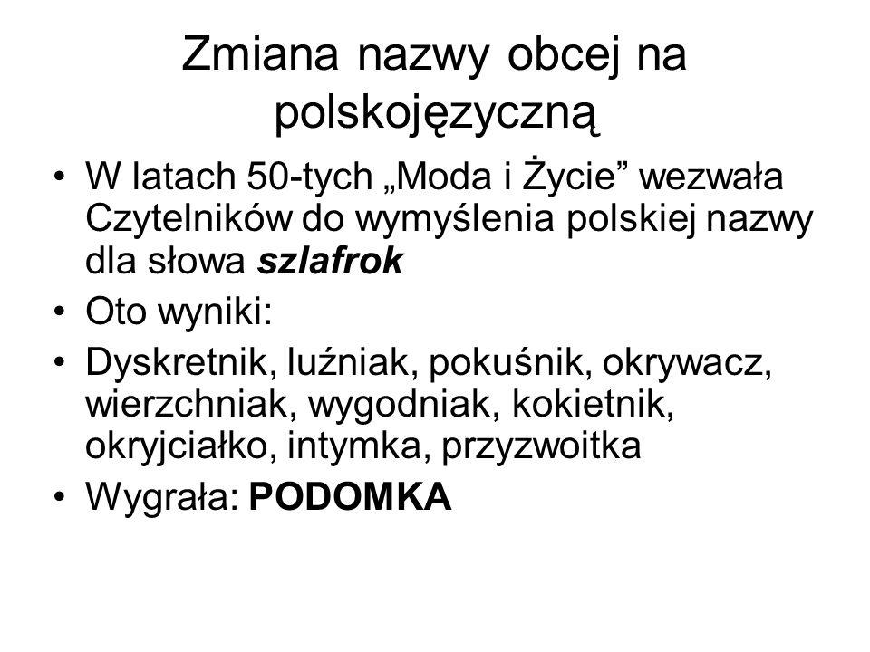 Zmiana nazwy obcej na polskojęzyczną