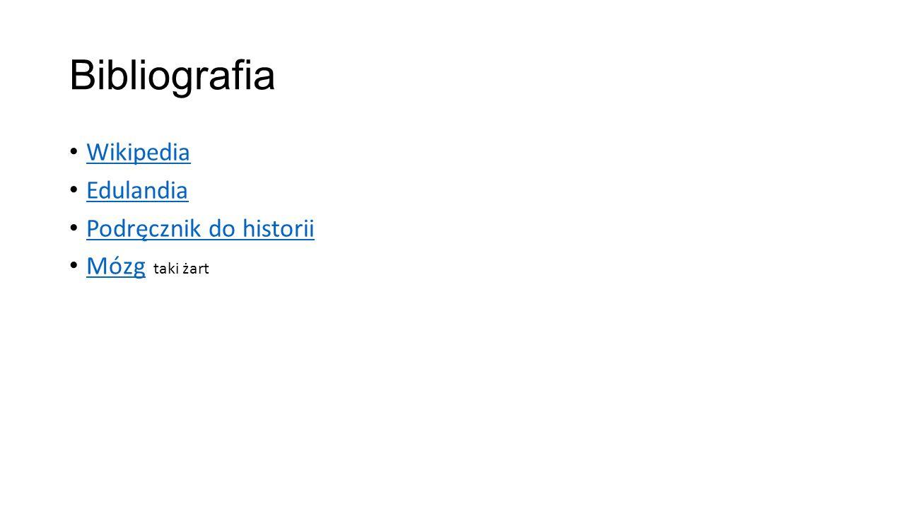 Bibliografia Wikipedia Edulandia Podręcznik do historii Mózg taki żart