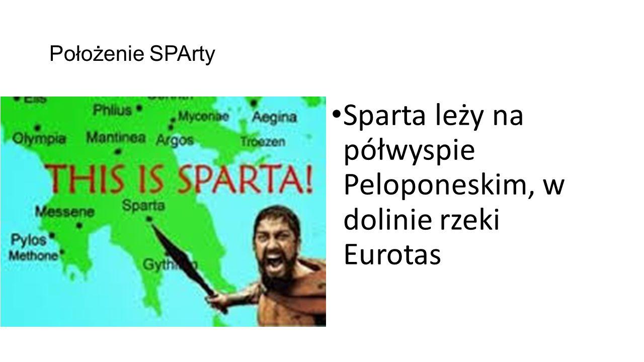 Sparta leży na półwyspie Peloponeskim, w dolinie rzeki Eurotas