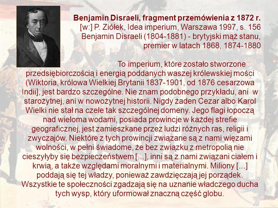 Benjamin Disraeli, fragment przemówienia z 1872 r.