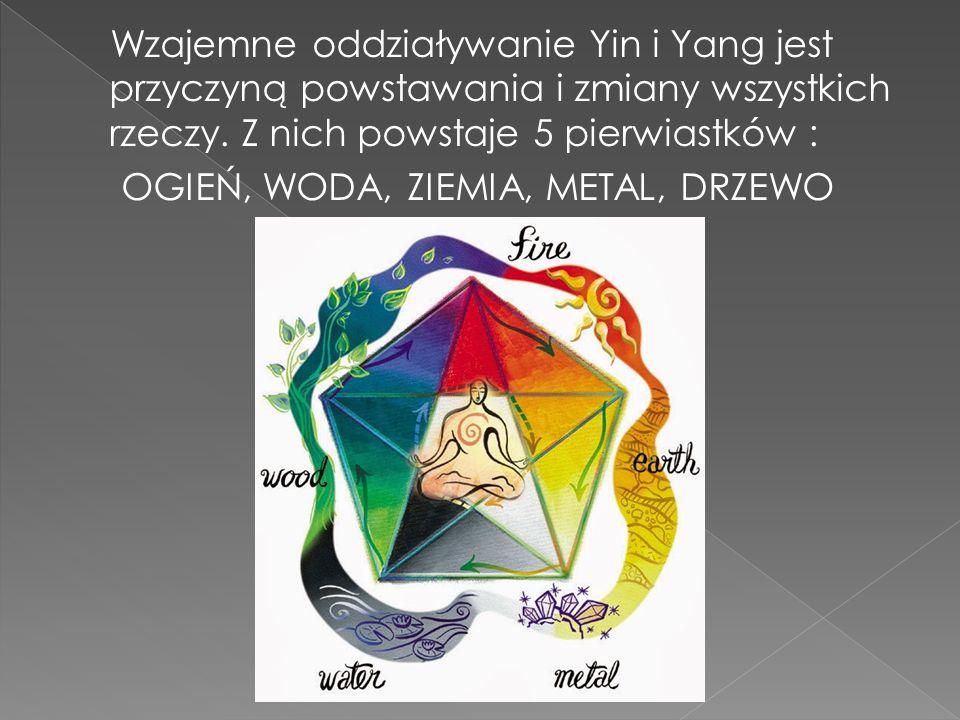 Wzajemne oddziaływanie Yin i Yang jest przyczyną powstawania i zmiany wszystkich rzeczy.