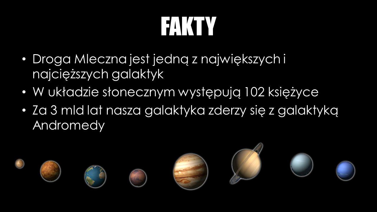FAKTY Droga Mleczna jest jedną z największych i najcięższych galaktyk