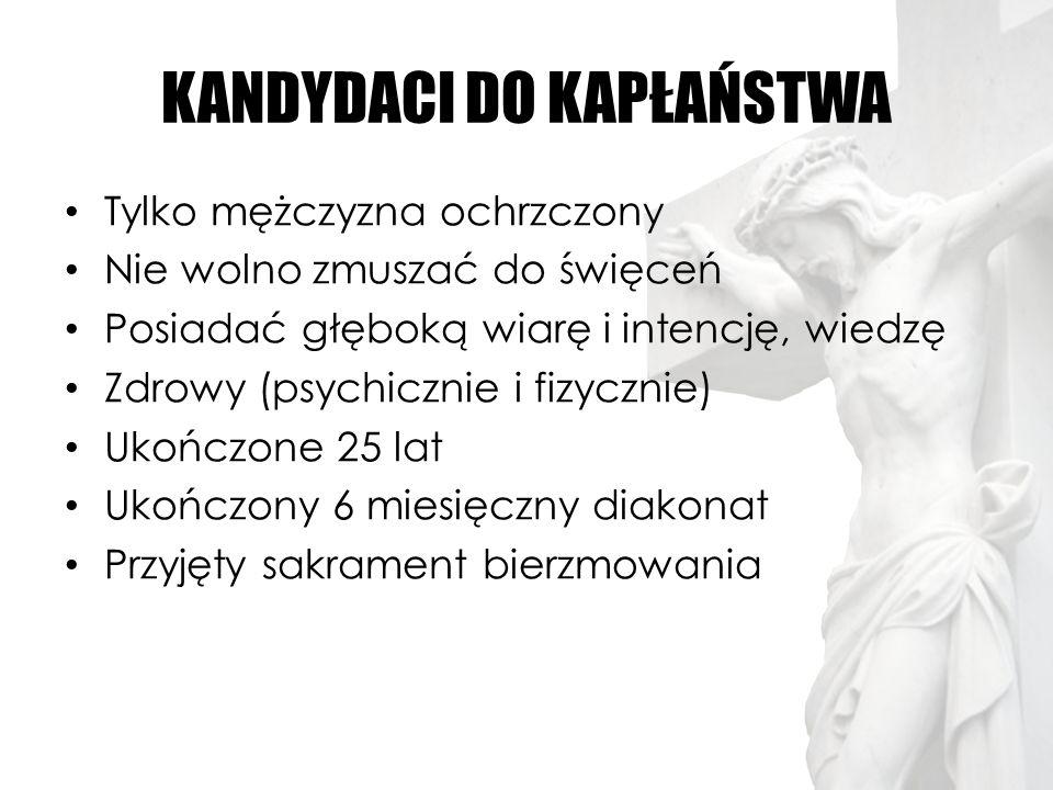 KANDYDACI DO KAPŁAŃSTWA