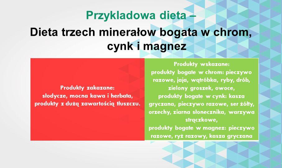 Przykladowa dieta – Dieta trzech minerałow bogata w chrom, cynk i magnez