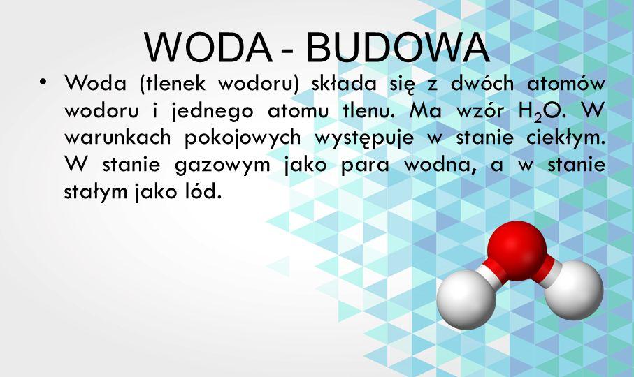 WODA - BUDOWA