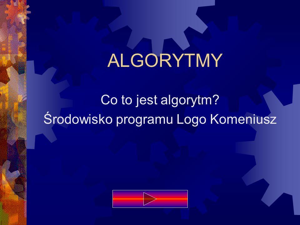 Co to jest algorytm Środowisko programu Logo Komeniusz