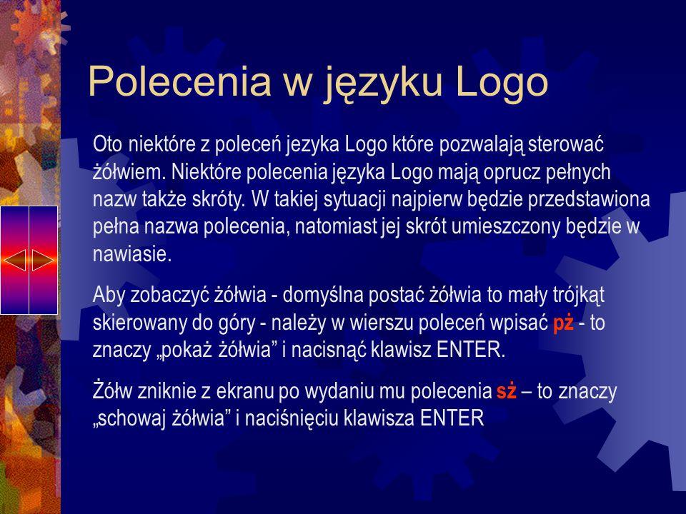 Polecenia w języku Logo