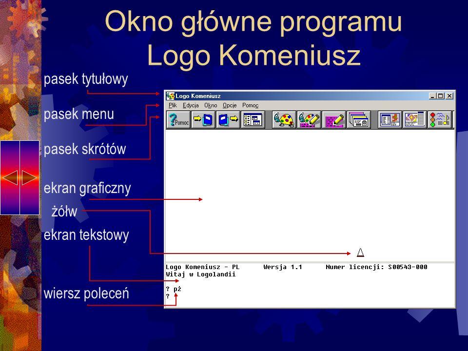 Okno główne programu Logo Komeniusz