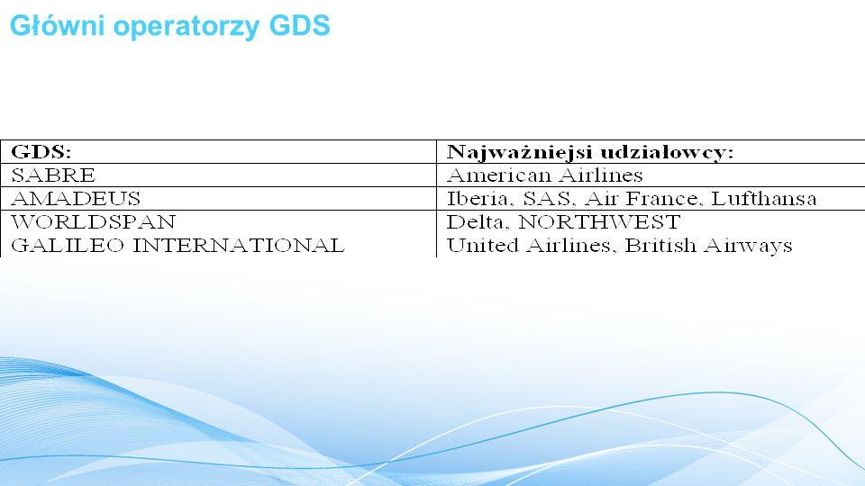 Główni operatorzy GDS