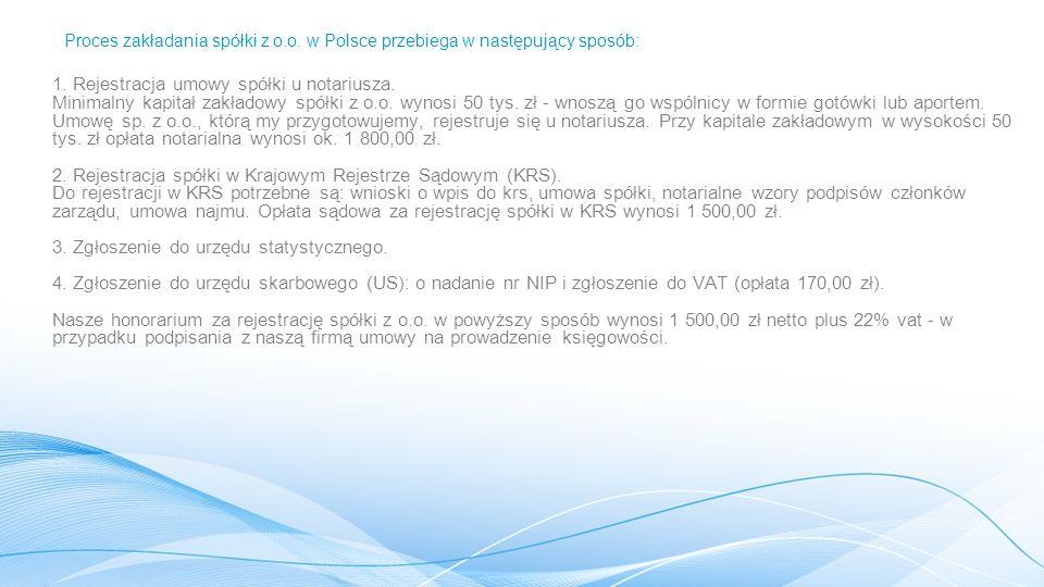 Proces zakładania spółki z o. o
