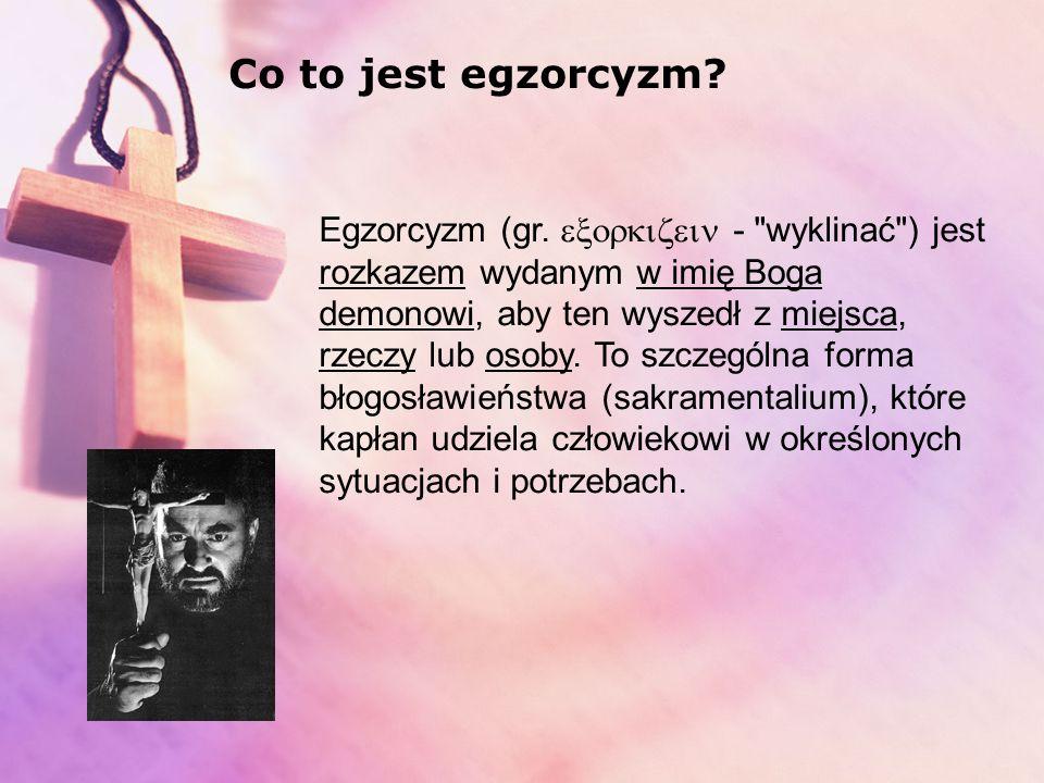 Co to jest egzorcyzm
