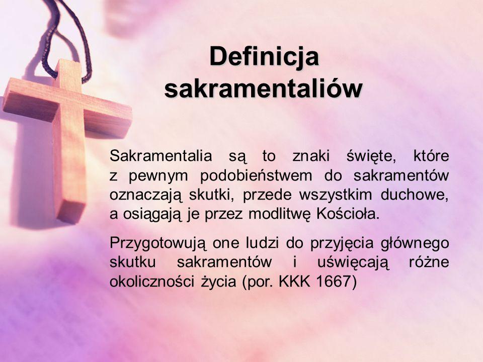 Definicja sakramentaliów