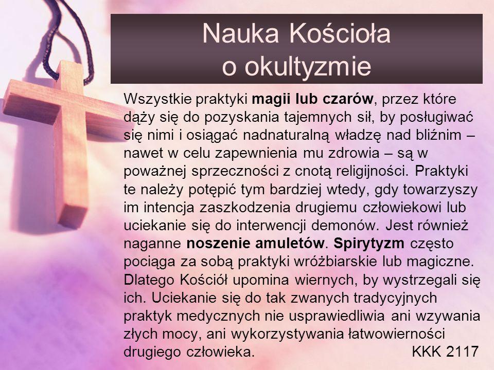 Nauka Kościoła o okultyzmie