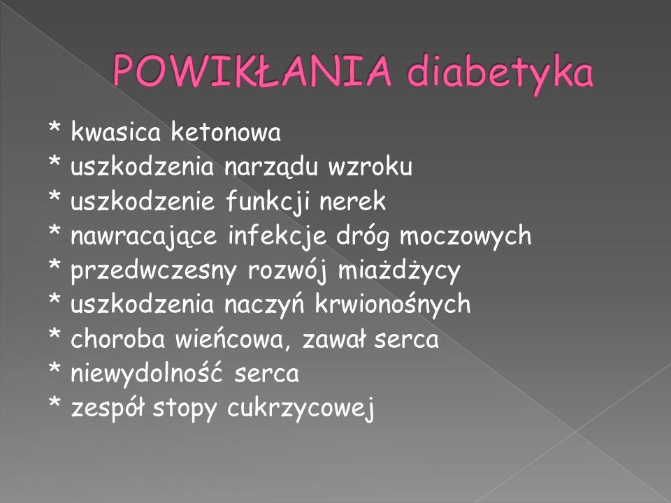 POWIKŁANIA diabetyka