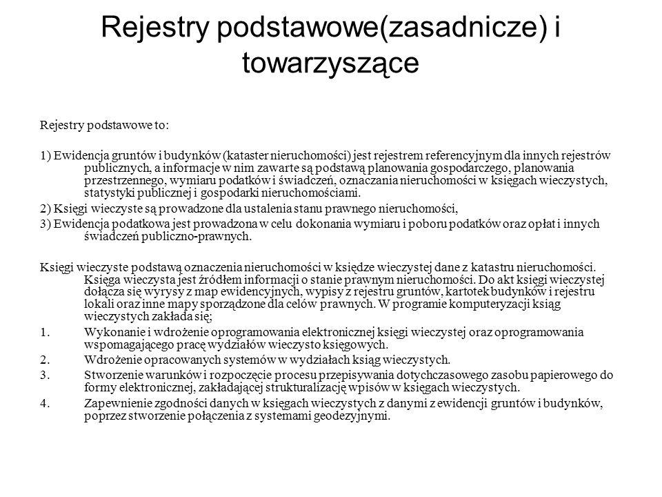 Rejestry podstawowe(zasadnicze) i towarzyszące