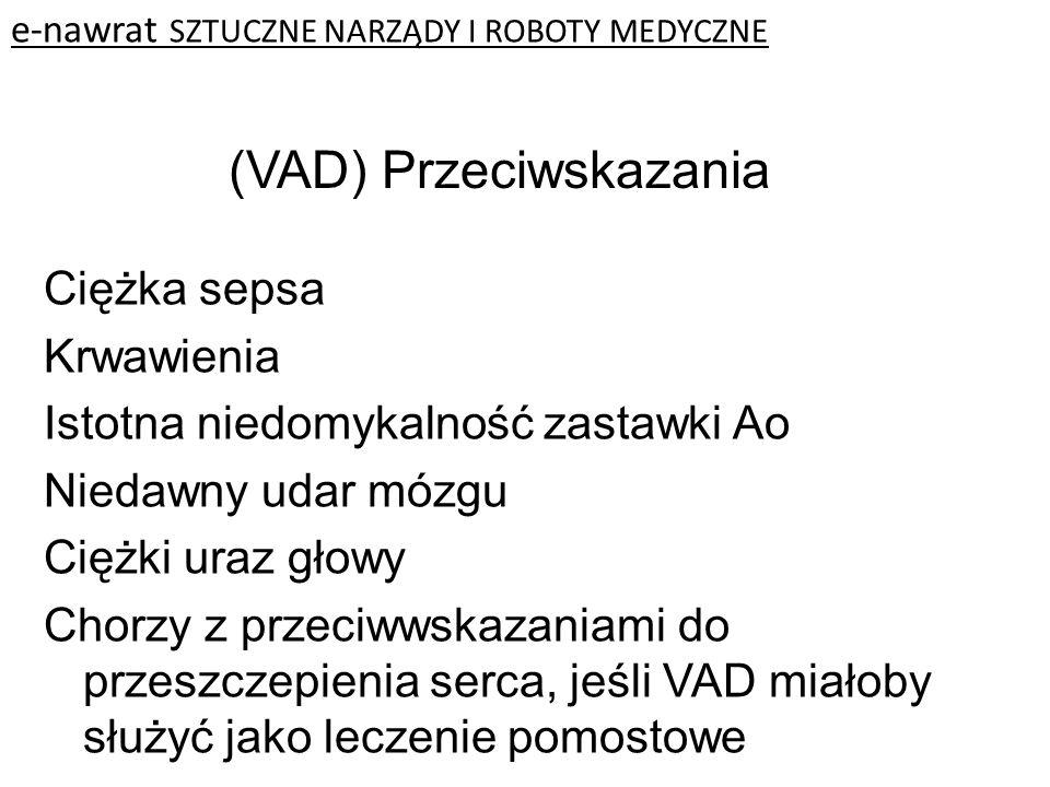 (VAD) Przeciwskazania