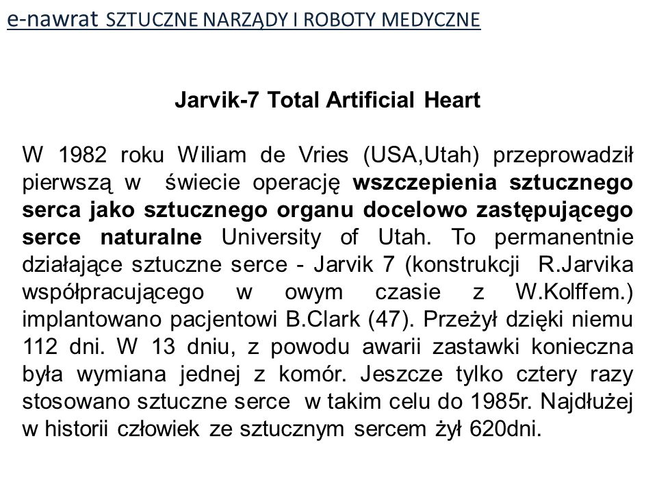 Jarvik-7 Total Artificial Heart