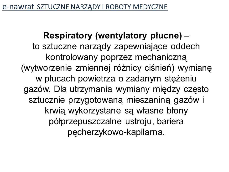 Respiratory (wentylatory płucne) –