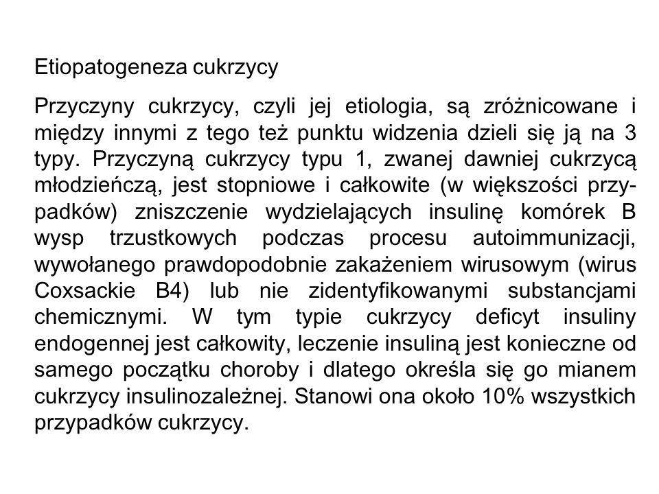 Etiopatogeneza cukrzycy