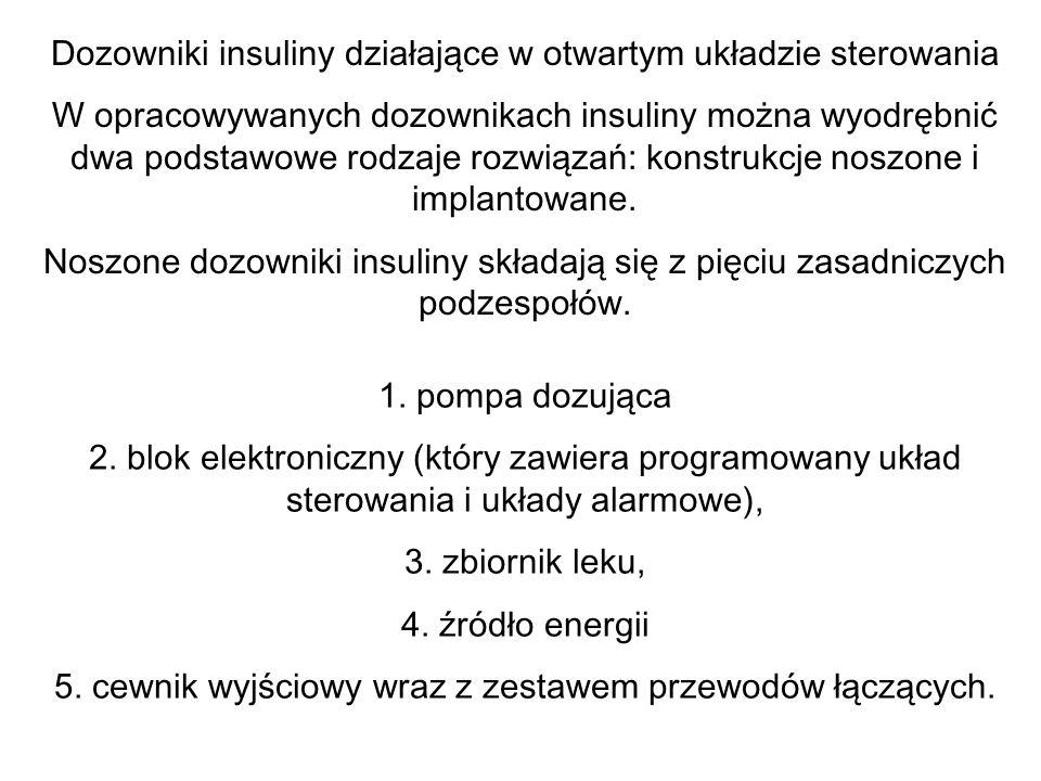 Dozowniki insuliny działające w otwartym układzie sterowania