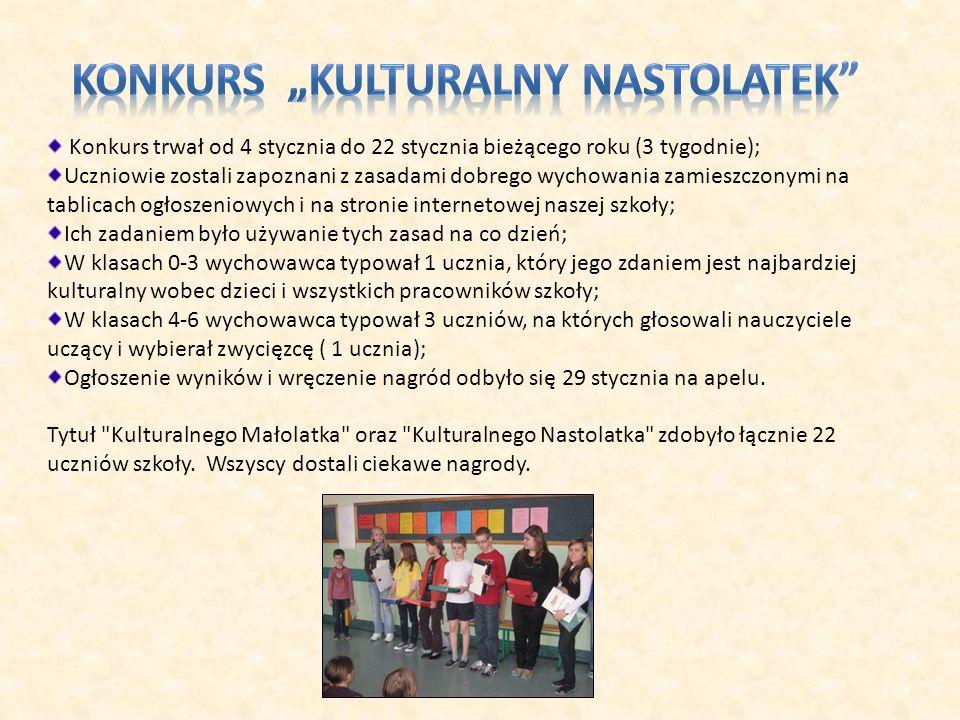 """Konkurs """"Kulturalny Nastolatek"""