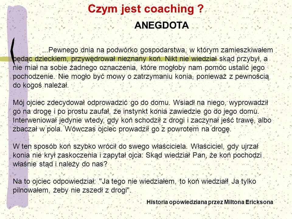 Czym jest coaching ANEGDOTA.