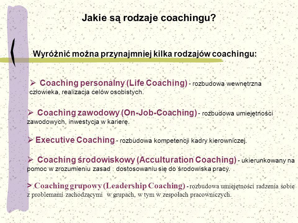 Jakie są rodzaje coachingu