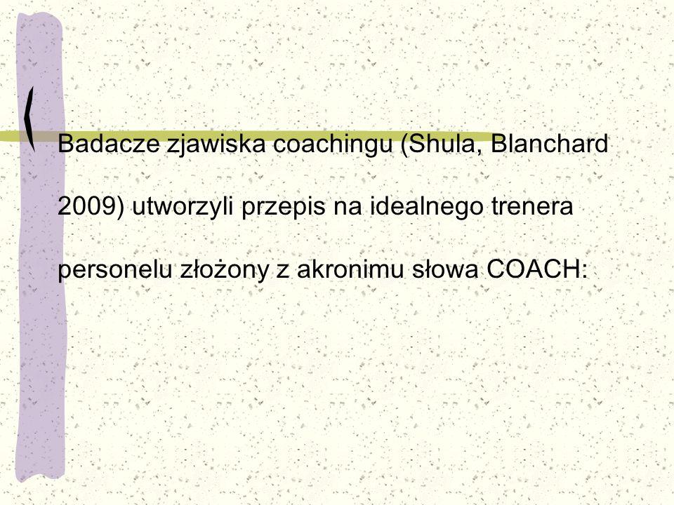 Badacze zjawiska coachingu (Shula, Blanchard