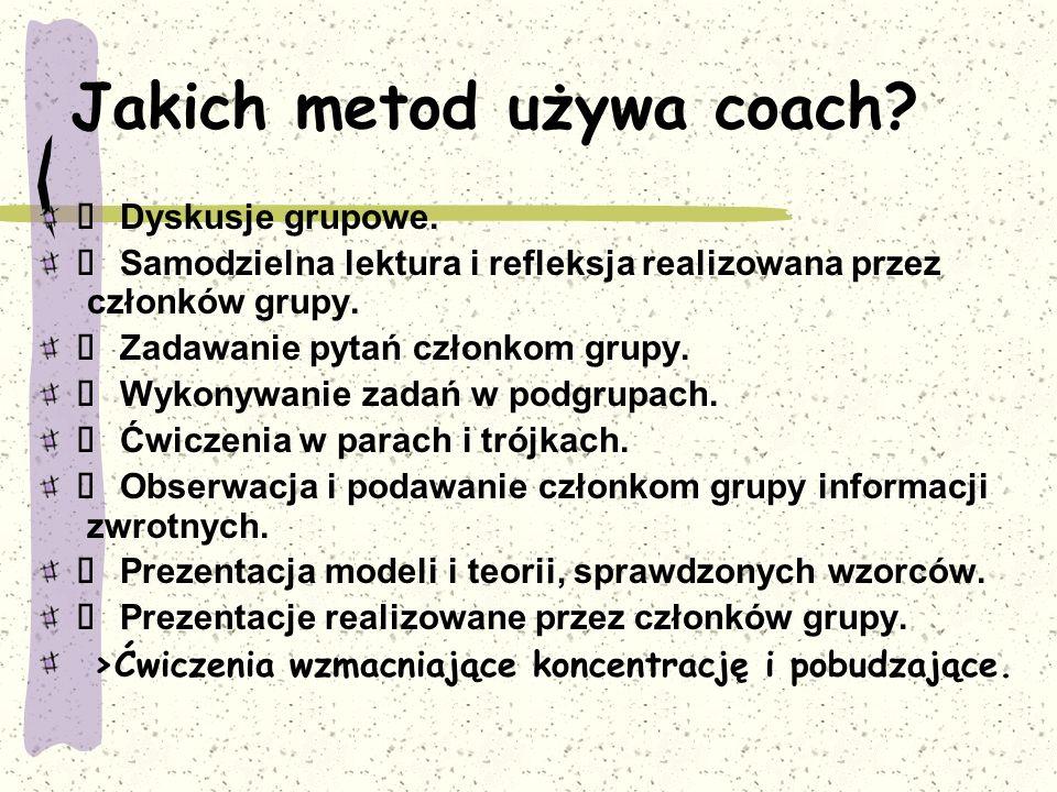 Jakich metod używa coach