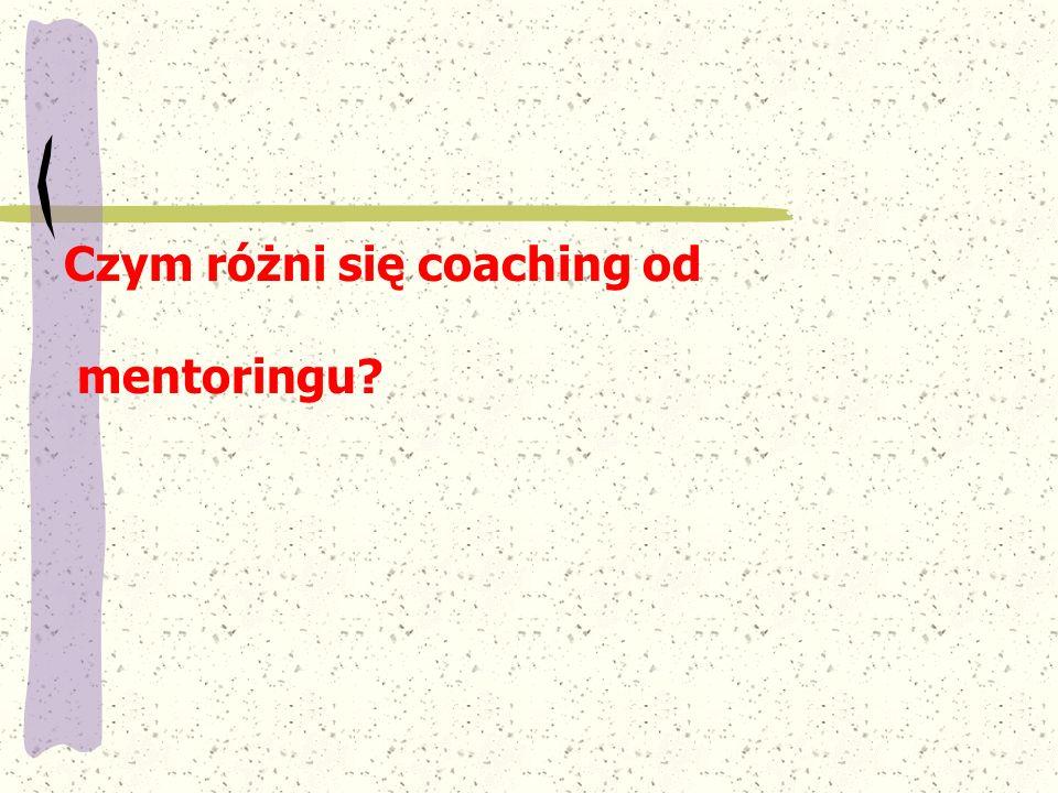 Czym różni się coaching od
