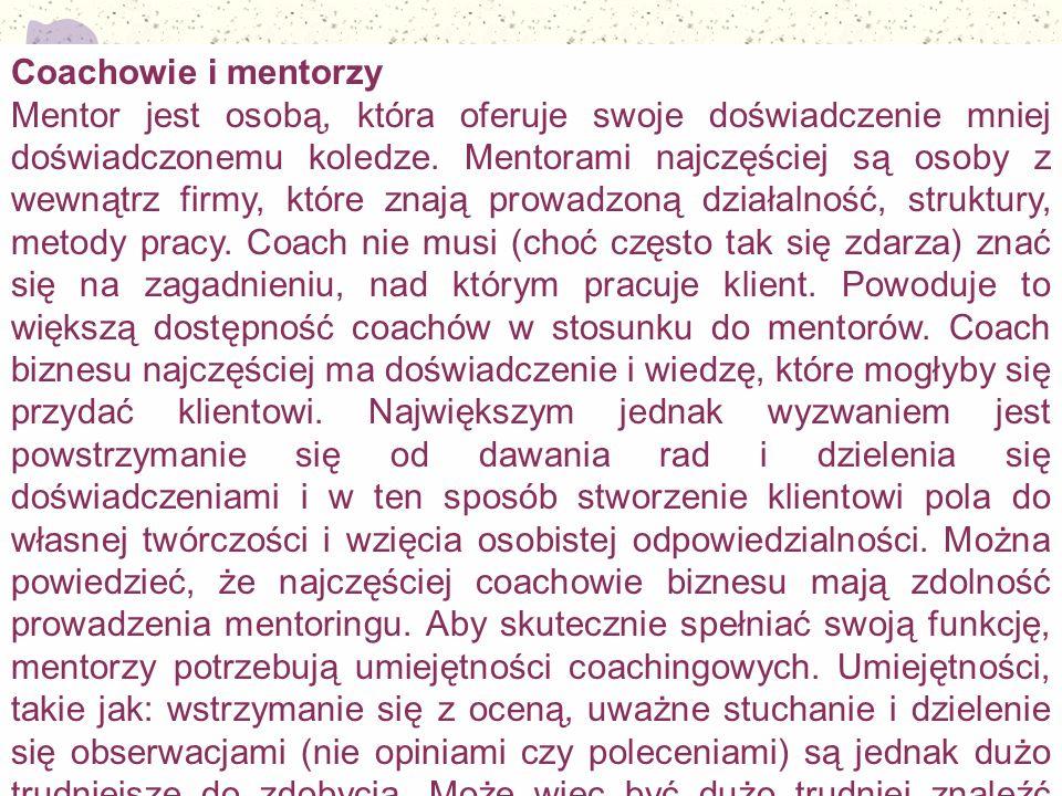 Coachowie i mentorzy