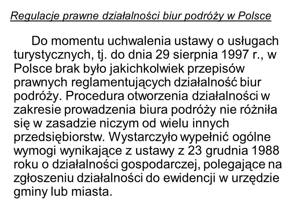 Regulacje prawne działalności biur podróży w Polsce