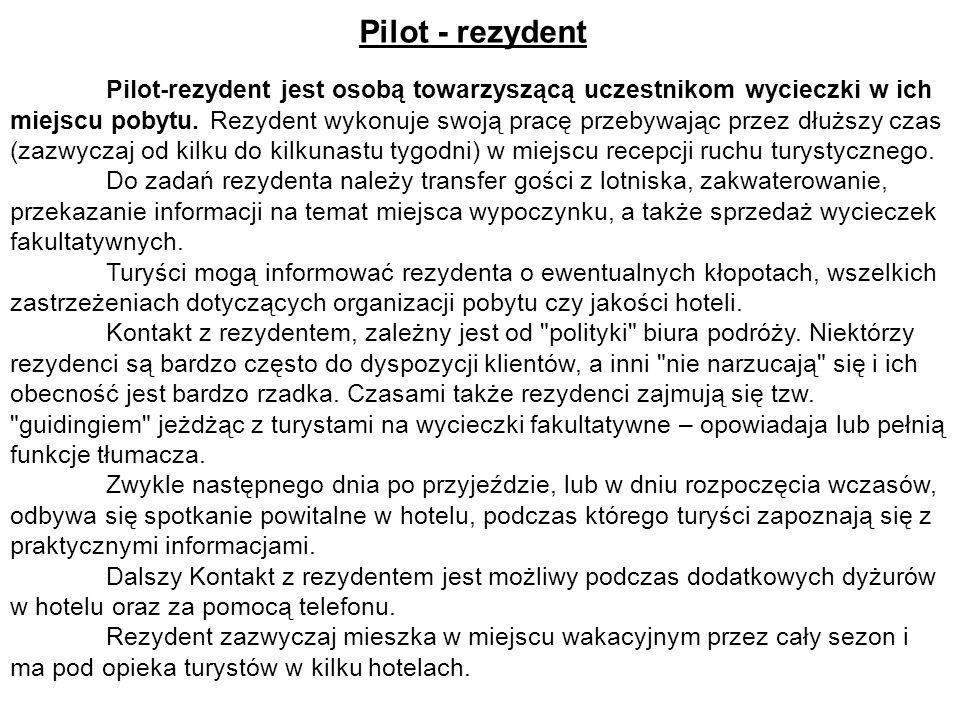 Pilot - rezydent