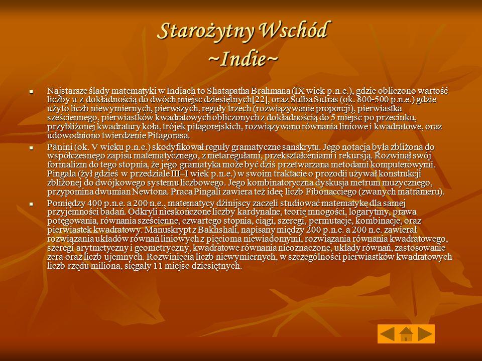 Starożytny Wschód ~Indie~