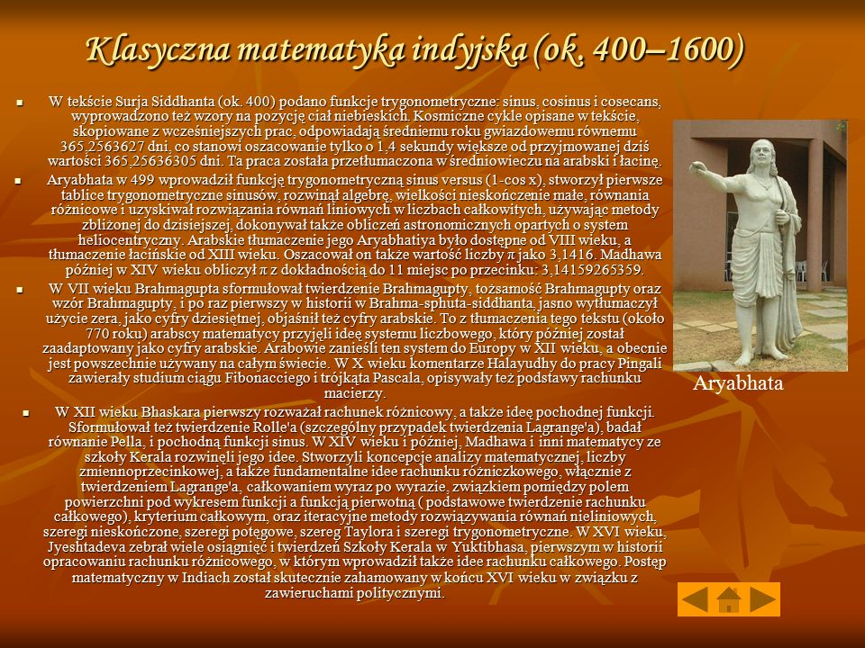 Klasyczna matematyka indyjska (ok. 400–1600)