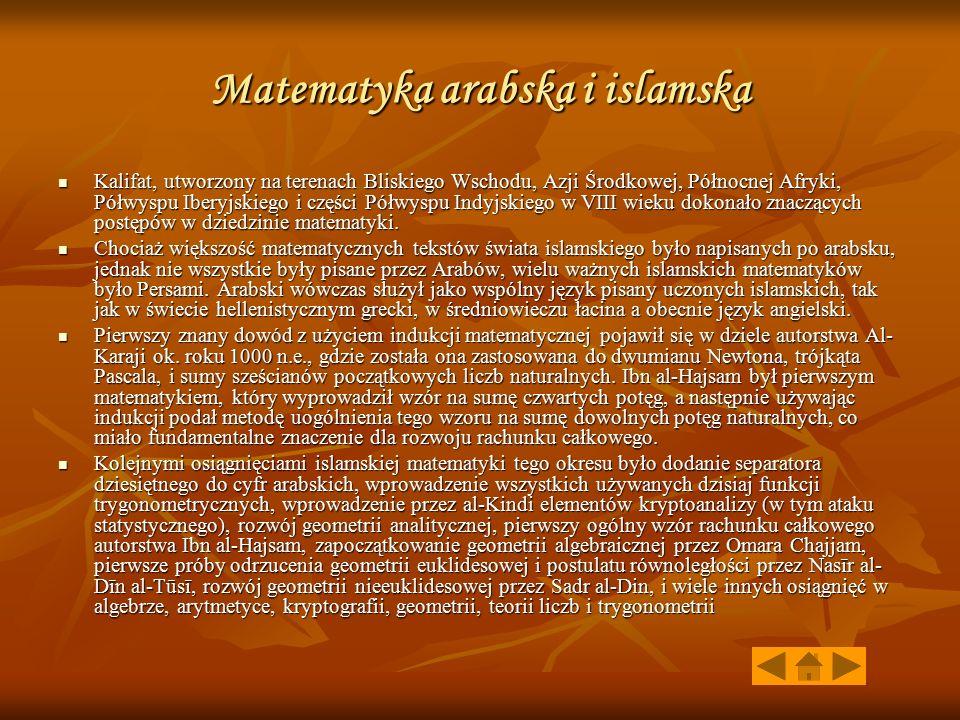 Matematyka arabska i islamska