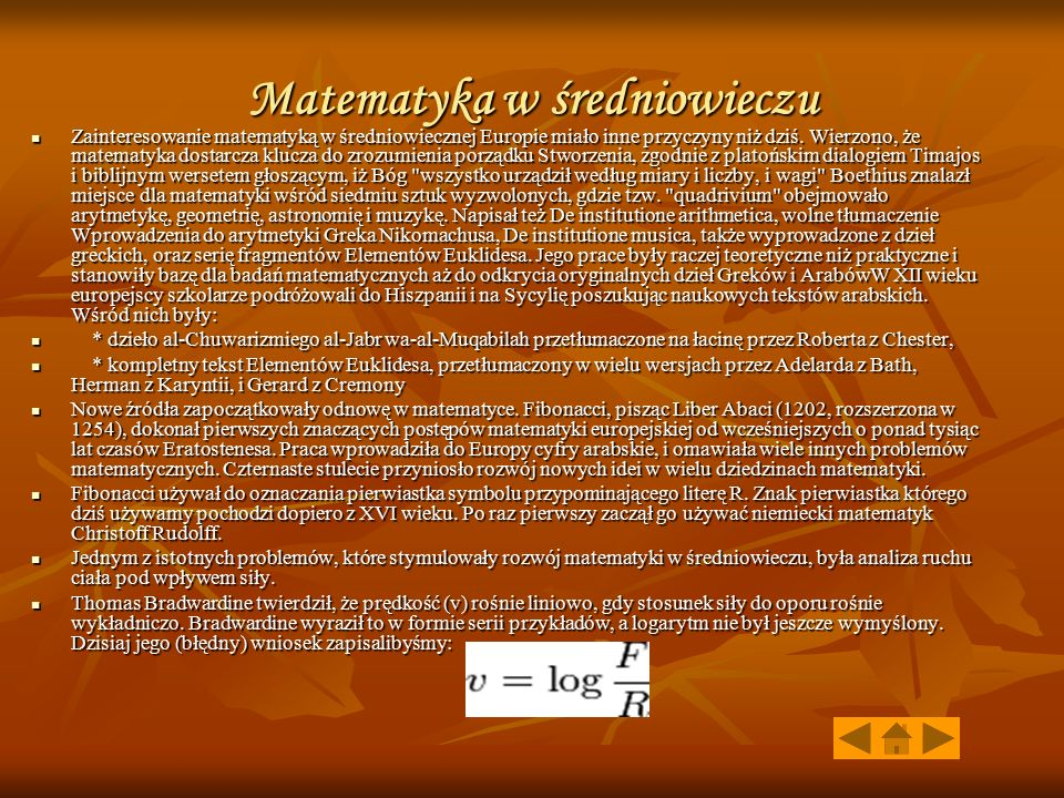 Matematyka w średniowieczu