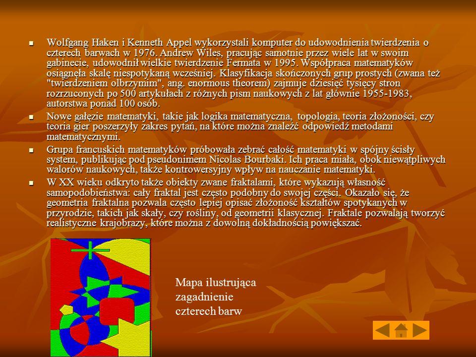 Mapa ilustrująca zagadnienie czterech barw