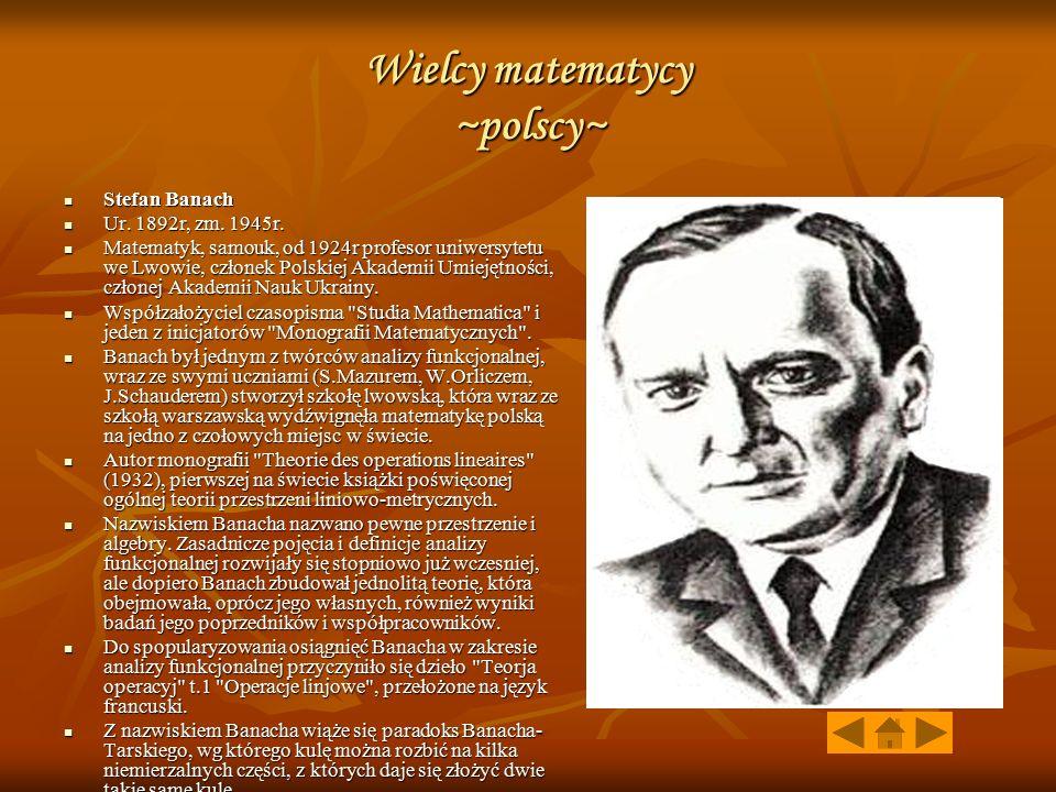 Wielcy matematycy ~polscy~