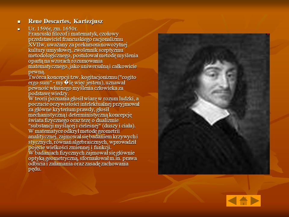 Rene Descartes, Kartezjusz